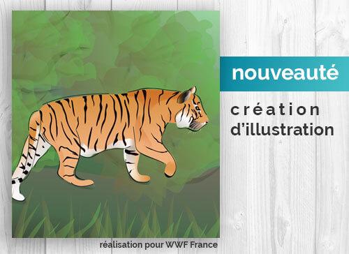 Création d'illustration pour WWF France par Fabio de Sa