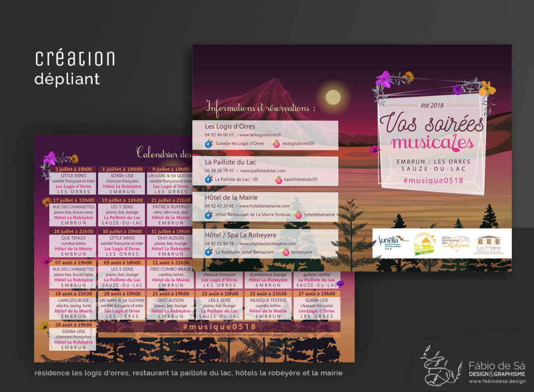 creation flyer soirees frances groupes