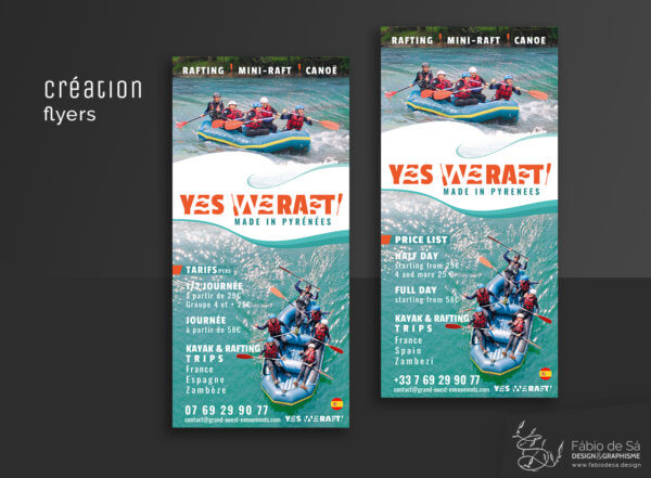 creation flyer yes we raft