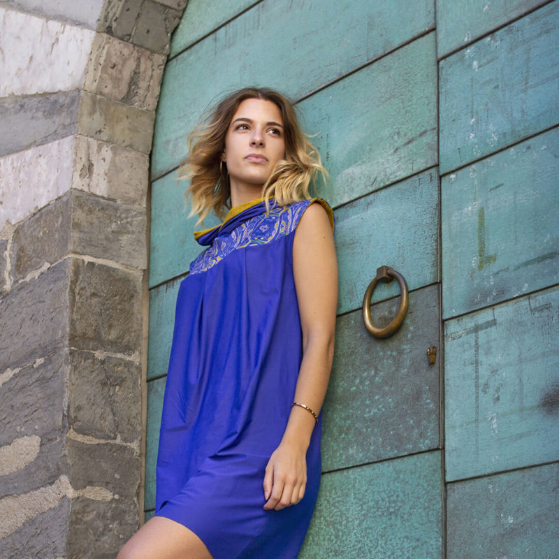 Motif textile Mosaïque bleu par Fábio de Sá - Modèle Anaelle