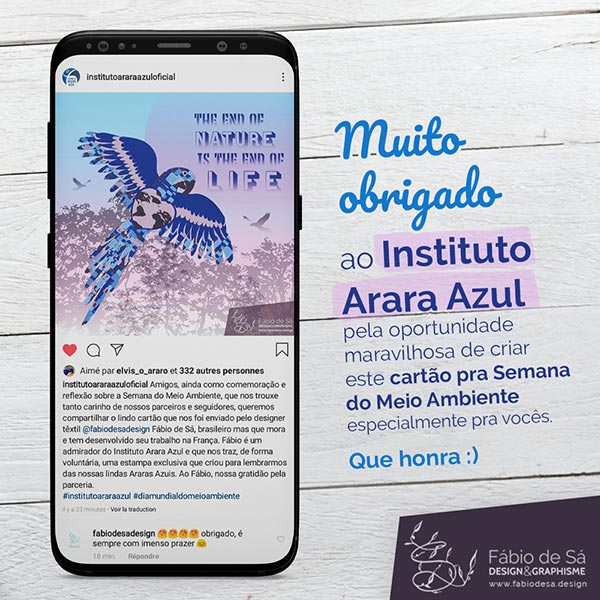 Cartão Instituto Arara Azul