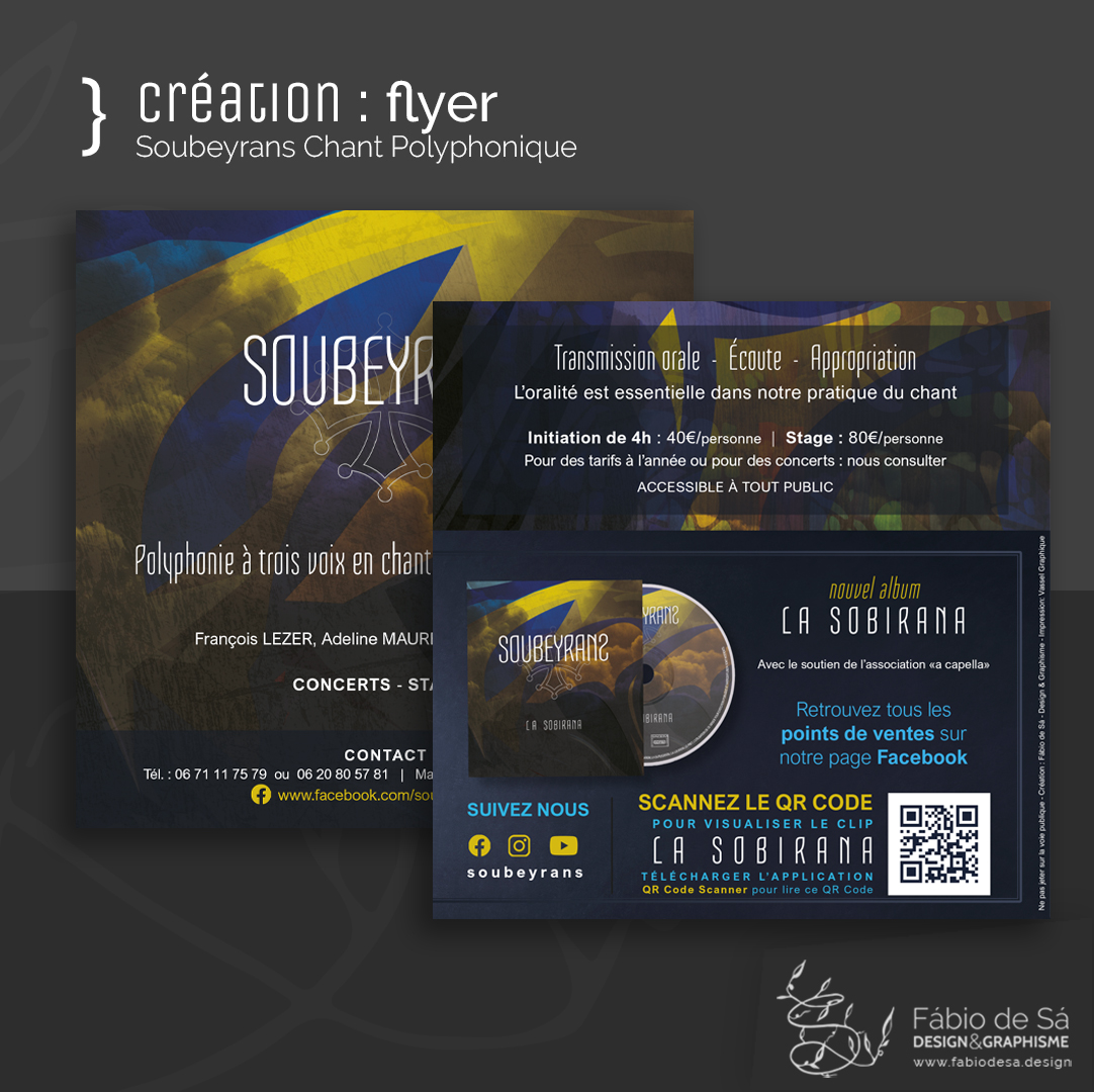 Création de flyer pour le trio Soubeyrans