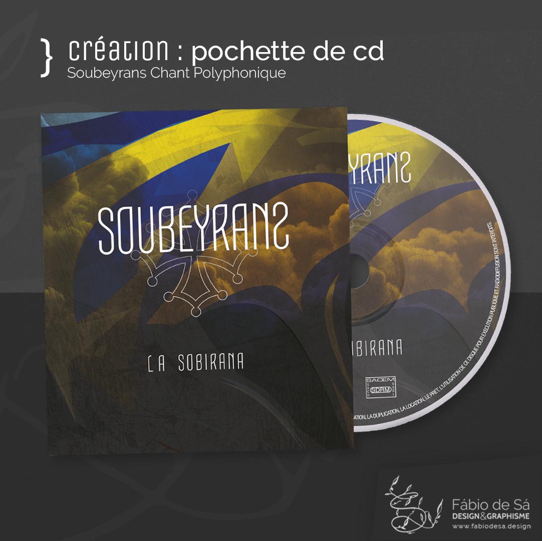 Créatio de pochete de cd pour le trio Soubeyrans